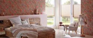Plissee - Sichtschutz im Schlafzimmer